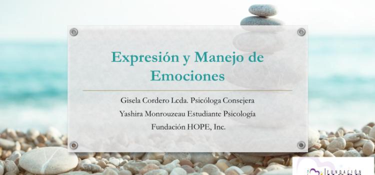 Tema: Expresión y Manejo de Emociones