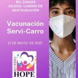 Vacunación Servi-Carro en Iglesia Camino de Restauración de Camuy