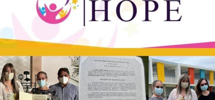 Senado de PR reconoce a la Fundación Hope por su labor en pro de los niños